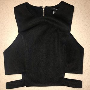 Forever 21 Top Black Small